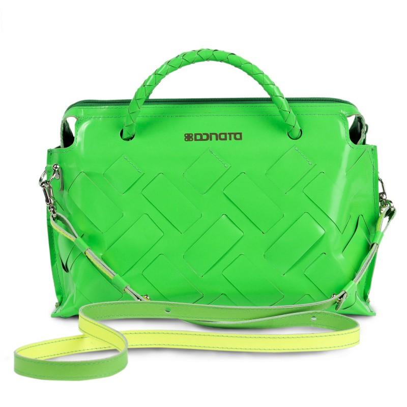Handtasche - INA   handgemacht von DONATA   Ziegenleder   grün