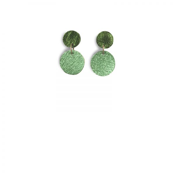 Ohrschmuck | geschmeidiges Kalbsleder | handgemacht von DONATA | grün & racinggreen