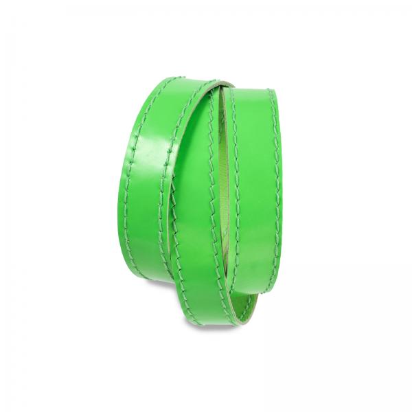 Wickelarmband | Leder | handgemacht von DONATA | neongrün