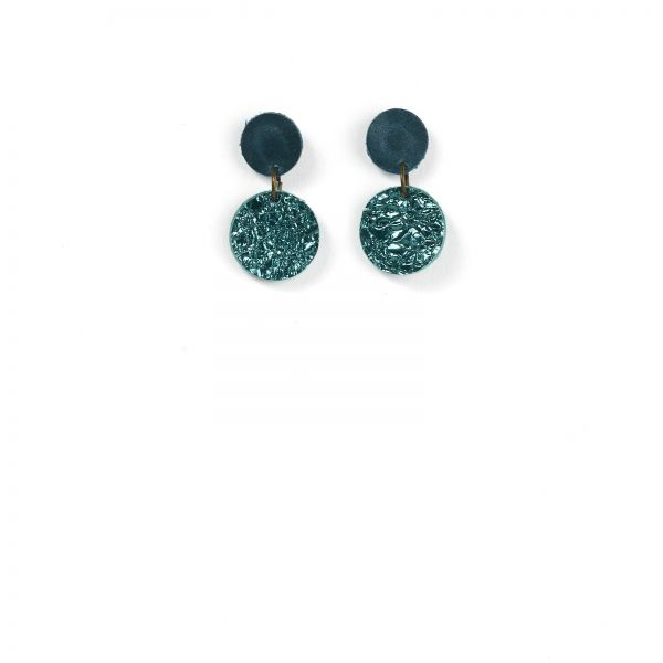 EARRING DOTS - laguna green