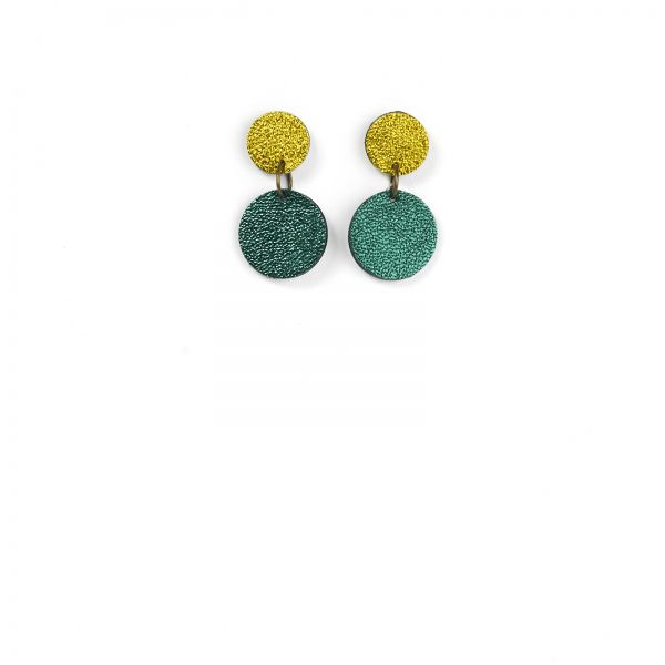 EARRING DOTS - sun green