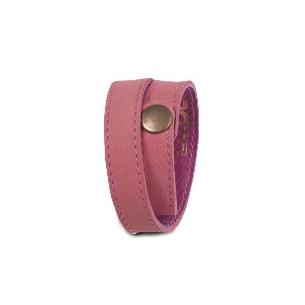Wickelarmband | Ziegenleder | handgemacht von DONATA | fuchsia rosa