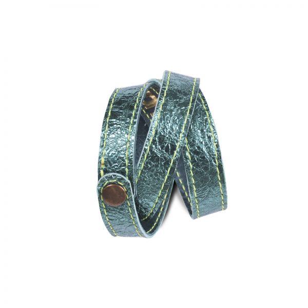 Wickelarmband | Ziegenleder | handgemacht von DONATA | laguna green
