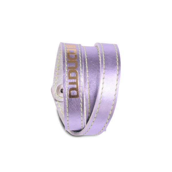 Wickelarmband | Ziegenleder | handgemacht von DONATA | Flieder metallic