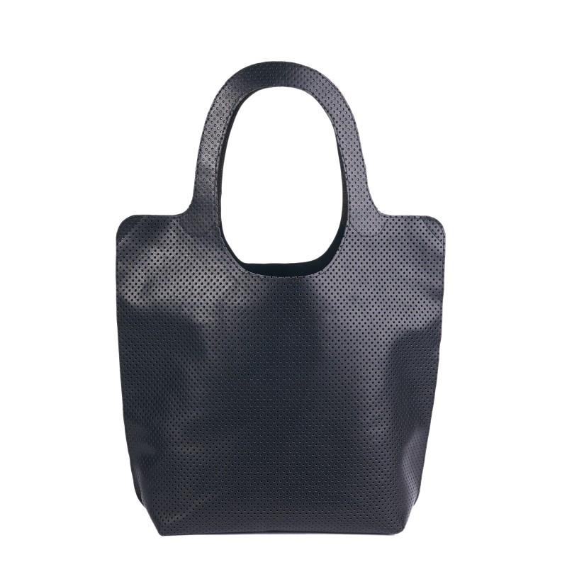 CÉCILE Shoppertasche aus Leder in schwarz, geräumig mit zwei kleinen Einschubfächer auf einer Innseite