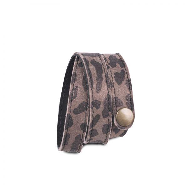 Wickelarmband | Ziegenleder | handgemacht von DONATA | Leoprint braun