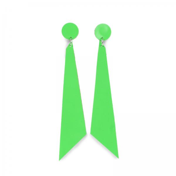 Ohrschmuck | Leder | handgemacht von DONATA | neongrün