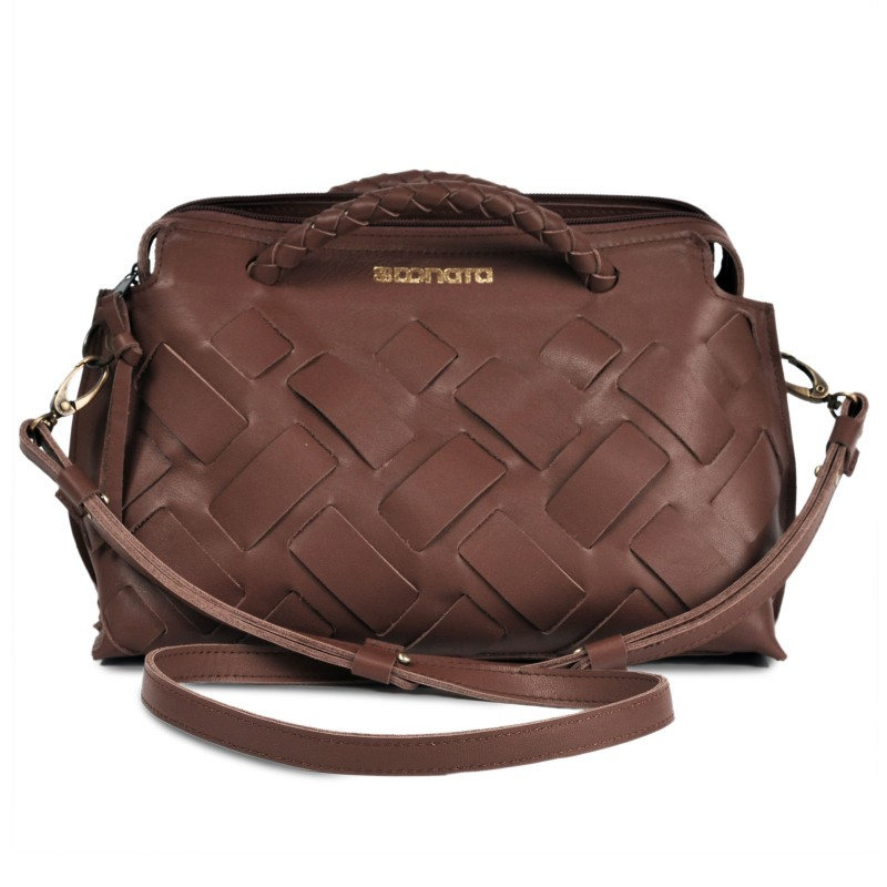 Handtasche - INA   handgemacht von DONATA   Ziegenleder   tan
