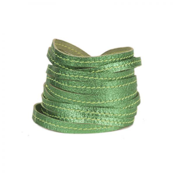 Armband | Ziegenleder | handgemacht von DONATA | grün glänzend